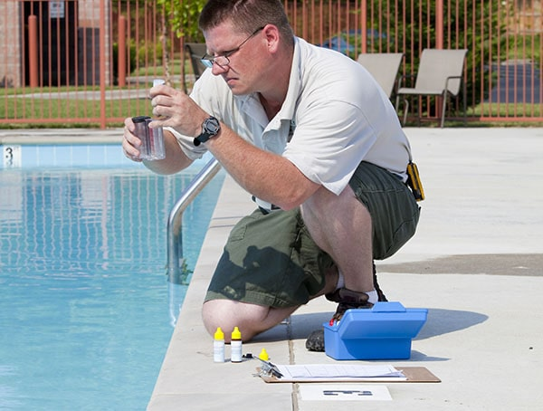 Water testing and analysis. Drinking water and tap analysis pool